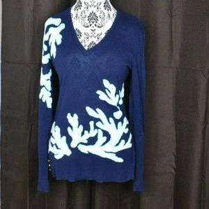 Lilly Pulitzer Coral print sweater size m
